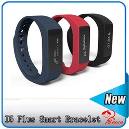 Wholesale Camera Tracking - I5 Plus Smart Bluetooth 4.0 Wristband Sleep Monitor Waterproof Smart Bracelet IP67 Sports Tracking Remote Camera