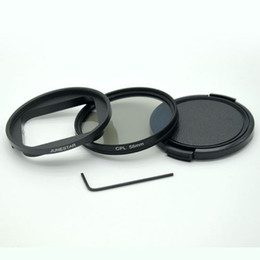 Wholesale Lens Filter Adapter Ring - 58MM CPL Filter Lens Cap UV Filter+adapter ring for Gopro5 waterproof case