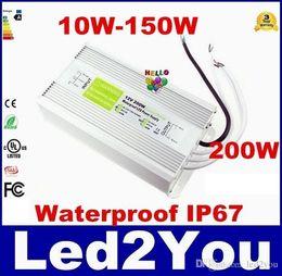 2019 12w светодиодный драйвер 12V вело электропитание 10-200W светодиодный трансформатор для светодиодные полосы освещения водонепроницаемый IP67 светодиодный драйвер адаптера для подводного света AC 90-265В