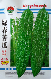 Wholesale Melon Bitter - Green in the spring of bitter melon seeds Bitter melon seeds The balcony vegetable qingrejiedu Step-down 10 g package