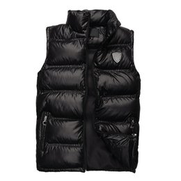 Wholesale High Collared - Hot Sale 2016 Fashion New Vest Men Fashion Outwear Coats Warm Vest Casual Down Vests Brand High Quality Drop Free Shipping