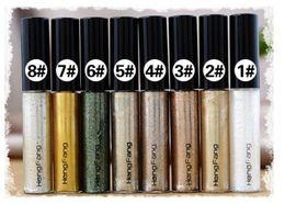 Wholesale Black Glitter Eyeshadow - 2016 New Gel Eyeliner Gold Eye Shadow Liquid Eyeliner Shimmer Glitter Shining 8 Colors Bronzer Makeup maquiagem eyeshadow dhl ship