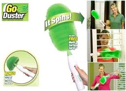 Wholesale Electric Dusters - new Electric Duster Set Motorized Cleaning Brush Green Feather Dusters for Blinds Furniture Keyboard Window multi brushes