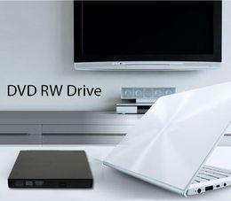 Wholesale External Usb Burner - External DVD burner USB 2.0 CD±RW DVD±RW ROM DL High-speed cassette mechanism Burner Computer 24x Drive Recorder Optical Drive Burner Player