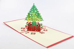 Cartões do natal on-line-Cartões de presente de cartão de saudação 3d presente de natal cartões de natal de decoração de natal para cartões de bessing de saudação pop up cartão