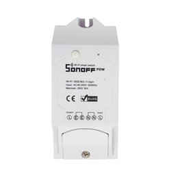 Wholesale Power Times - Sonoff Pow Smart Wifi Switch Controller With Real Time Power Consumption Measurement 16A 3500w Smart Home Device Via APP DHL