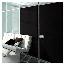 Wholesale Window Privacy Film - 0% VLT Blackout Privacy Window Film Stickers Opaque Black Residential Glass Tint Decal COATING FOIL SIZE 1.52x30m=5x98ft