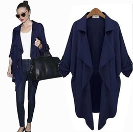 Wholesale Elegant Cardigan Women - Fall Clothes for Women Nice New Korean Style Plus Size Coat Elegant Chiffon Long-sleeved Cardigan Anti-Sun Jacket Trench Coats for Women