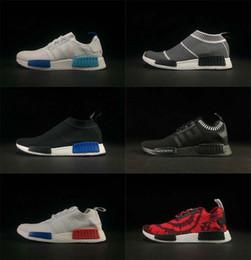 Wholesale Running Kicks - New NMD City Sock Black Vintage White OG Primeknit SUP Nice Kicks Triple Black Women Men Nmds Runner R1 Running Shoes
