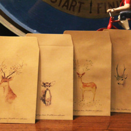 Wholesale Free Scrapbooking Papers - Wholesale- 10Pcs Lovely Deer Paper Envelope 4 Designs Cute Mini Envelopes Vintage European Style For Card Scrapbooking Gift Free shipping