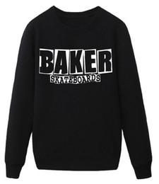 Wholesale New Style Women Sportswear - Wholesale-Women men skateboard baker streetwear man hoodies 2016 new European Style sweatshirt sportswear moleton