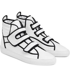 Wholesale European Shoes Women - sizes 36-46 2016 European fashion brand new RAF SIMONS high top casual shoes for men women good quality Genuine Leather sneakers trainers