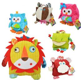 Peluche in nylon online-Zaino di nuovo cartone animato, simpatico gufo, giocattoli di peluche scimmia, sacchetti di scuola per bambini, giocattoli per bambini, zainetto per bambini