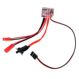 Wholesale Esc Brush Rc - RC ESC 20A Brush Motor Speed Controller with Switchable Brake for RC Car Boat Tank