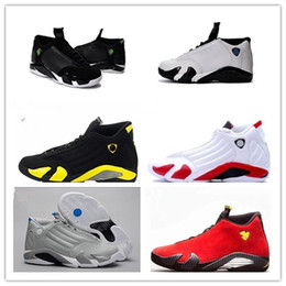 Wholesale Rubber Toes - 2016 Free shipping retro 14 mens basketball shoes Indiglo Oxidized Green Thunder Black Toe Cool Grey mens sneaker sport shoes size 8-13
