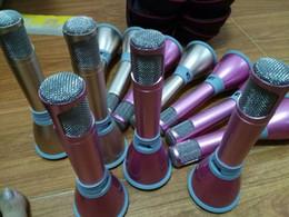 2019 meilleurs microphones à fil K068 Microphone à condensateur Bluetooth Karaoke Microphone + Haut-parleur - Haut-parleur Bluetooth 3.0 KTV Karaoke Effects Recorder avec batterie 1000mAh