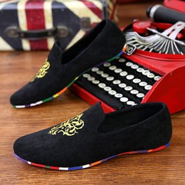 Wholesale Velvet Fabrics - 2017 Fashion Moccasins Men Summer Breathable Mens Shoes Casual Velvet Leather Slip on Driving Shoes Fashion Flats Slip-on Men Loafers