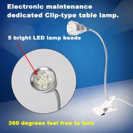 Réparation de téléphone portable dédié Clip-type lampe de table loupe Lampe LED haute définition lampe de lecture Lampe de clip d'entretien électronique ? partir de fabricateur