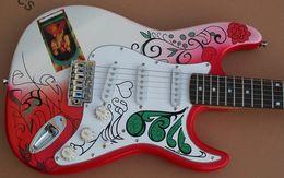 Wholesale Electric Guitars China - Jimi Hendrix's Custom Shop Guitars Monterey Tribute Hendrix Monterey Electric Guitar China ST Rare Guitars String Thru Body