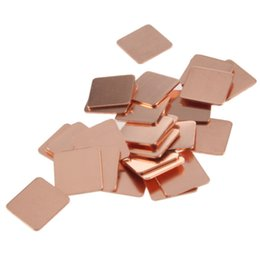 Wholesale Copper Vga Heatsink - 30Pcs 15mmx15mm Heatsink Copper Shim Thermal Pads for Laptop GPU CPU VGA