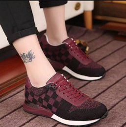 Wholesale Designer Sneaker Men - New Outdoor Male Leisure Low Sneakers Luxury Designer Fly Line Weave Lace-up Plaid Sports Running Shoe Zapatos Hombre 38-44