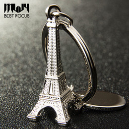 ball chain keychains Promo Codes - Novelty Eiffel Tower Keychain For Car Keys Souvenirs Paris Tour Eiffel Keychain Key Chain Alloy Key Ring Decoration Key Holder 9 styles