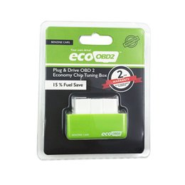Wholesale Vw 15 - EcoOBD2 Chip Tuning Box ECO OBD2 Benzine Petrol Cars Plug Drive OBDII Diagnostic Tool Retail Box 15% Fuel Save
