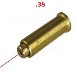 Wholesale Laser Bore Sight Free Shipping - Red Laser Bore Sight Caliber .38 CAL: 38 Special Cartridge Bore Sighter Hunting Copper Free Shipping