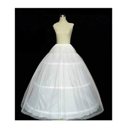 Wholesale Crinoline Skirts For Sale - Hot Sale Three Hoop Ball Gown Full Crinoline Petticoat for Women Wedding Skirt Wedding Accessories princess dress petticoat underskirt