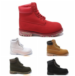 Wholesale Work Boots For Men Waterproof - Top Band 10061 Yellow Boot Fashion Boots Leather Waterproof Men Women boots Work Boot for Camping Hiking Shoes Work Boots 12 color EUR36-46