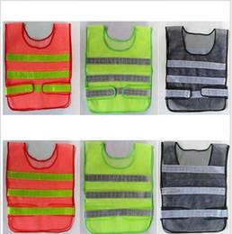 Wholesale Traffic Vests - visibility safety reflective Vest Hollow Grid Vest High Visibility Warning Safety Working Construction Traffic Reflection Vest KKA2494