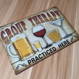 "Wholesale Wholesale Metal Paintings - Wholesale- About "" drinking and beer "" UA-0123 metal painting vintage tin signs home decor plate wall art craft for bar 20x30cm"