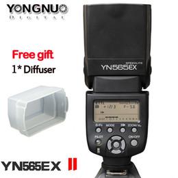 Wholesale Yongnuo Yn - YONGNUO YN-565EXII YN565EX II Speedlight E-TTL Flash Speedlite for Canon EOS T4i T3i T2i T1i Xsi Xti 450D 500D 550D 600D 650D 1000D 1100D