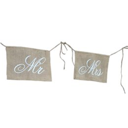 Wholesale Bunting Wholesale - Decorations and Photo Prop, MR MRS Bunting Banner Wedding Decoration .Party Decoration Supplies Bunting Flag Banner BF838
