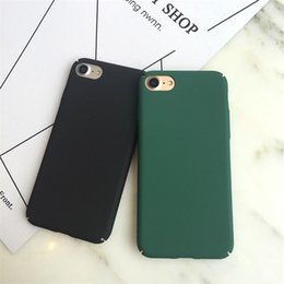 Wholesale Hard Cover For Mobile Phone - Wholesale Soild Scrub Pc Hard Back Cover Case For Iphone 7 7 6 6S Plus Mobile Cell Phone Case For Iphone 7 Plus Bag Fundas Coque