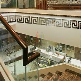 tableros de pared 3d Rebajas 10 * 10 cm 4 pulgadas de plata dorada espejo geométrico tablero de la pared pegatina para el techo sala de baño decoración de diseño moderno