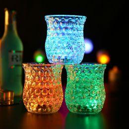 Bicchieri d'acqua lampeggianti online-10 Style led Champagne Beer Cocktail Vino Acqua Drink Bicchieri Glow Light Tazze lampeggianti per Party Bar