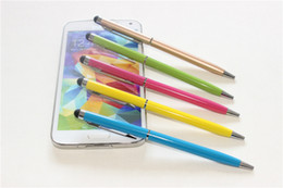 Wholesale Ballpoint Stylus Touch Pen 2in1 - Best Metal 2in1 Stylus Ballpoint Pen Colorful Touch Pen Bullet mini metal capacitive touch Pen ballpoint writing pen DHL Free