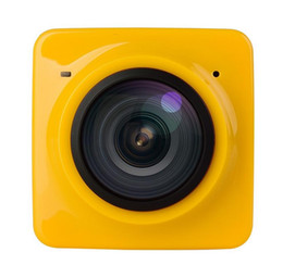 Wholesale panorama cameras - 2016 New Arrival Cube 360 Action Camera 360 Degree Panorama 360 x190 F2.0 Lens Camera 1280*1042 WiFi GVT100M DSP Battery 180mins 5PCS