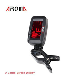 Wholesale Bass Parts - Mini Clip-on Clip on LCD Display Guitar Tuner Backlight for Guitar Chromatic Bass Violin Ukulele Guitar Parts & Accessories
