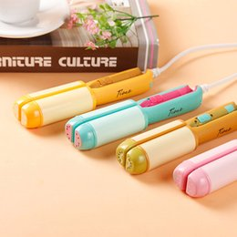 Wholesale Ceramic Coated Curling Iron - New ceramic coated antiscaled hair straighteners electric mini fruit splint Straight a dual-use hair curler curling iron cute hair