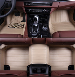 Wholesale Mat Leather - strip leather car floor mat for BMW 630i 740Li M5 M6 M3 X6 X5 X3 X1 Porsche Panamera Cayenne Volkswagen Amarok Golf Polo Ford Focus