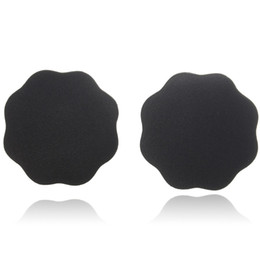 Wholesale Black Nipple Covers - Wholesale-1 Pair Black & Beige Breast Petals Sexy Disposable Soft Silicone Nipple Cover Bra Pad Pasties For Women Intimates Accessories