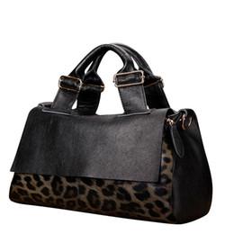 Wholesale Leopard Satchel Handbags - Wholesale- 2016 autumn winter new leather large women shoulder bags fashion leopard handbag Large capacity ladies tide famous brand Aidrani