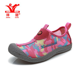Wholesale Quick Walk - Wholesale-2016 new Aqua Shoes Ultra-light Quick-drying Beach Water Sport River Walking Summer Women Red Breathable Flotillas Outdoor Shoes