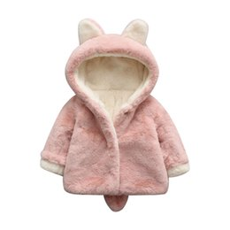 Wholesale Pink Lolita Coat - baby girls Velveteen coat Children autumn & winter coat baby cashmere jacket clothes Girls Baby Outfits & Sets for 0~3 years