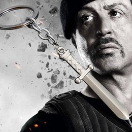 Wholesale Key Rings Male - 2016 The Expendables 3 star Sylvester Stallone Same Paragraph keychains Domineering Men With Evil Sword Pendant key rings Male Models