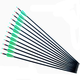 Wholesale Field Tip Arrows - 30Inch Carbon Removable Hunting Arrows Shaft With Field Points Replaceable Tips for Recurve & compound Bow