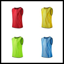 Wholesale Wholesale Sports Team Jerseys - Breath Against Fighting Soccer Basketball Training Vest Children's Team soccer t shirts sports games group against jerseys