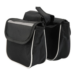 Wholesale Tube Pouch - Bicycle Cycling Frame Pannier Saddle Front Tube Bag Both Side Double Pouch